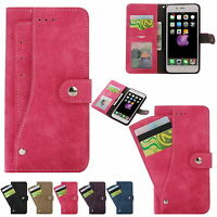 New For Apple iPhone 7 Plus Slim Leather Flip Wallet Card Slot Holder Case Cover