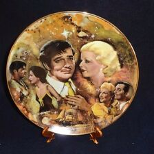 """Golden Age Of Cinema Clark Gable """"the King And His Ladies"""" Collector Plate."""