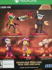 Xbox One Sonic Forces Bonus Edition DLC (NO BASE GAME)