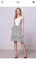 Anthropologie Maeve Chessi Dress Size 12 Womens Large Striped Lace Spring L