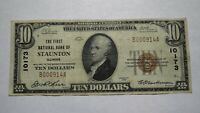 $10 1929 Staunton Illinois IL National Currency Bank Note Bill Ch. #10173 VF!