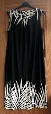 EVANS New Black Cream Maxi Long Dress Wedding Races Plus Size 14 16