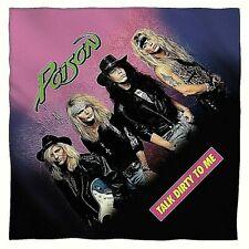 "Poison ""Talk Dirty to Me"" (1980s Mtv Hair Band) 22"" x 22"" Sublimated Bandana"