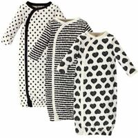 Touched By Nature Girl Organic Kimono Gowns 3-Pack, Heart