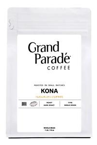 100% Hawaiian Pure Kona Dark Roast Coffee Beans, Fresh Roasted Daily, 1 LB Bag