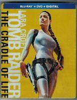 TOMB RAIDER: CRADLE OF LIFE STEELBOOK (Blu-Ray+DVD+Digital) BRAND NEW