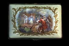 French Hand Painted Porcelain Box Stamped France