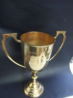 VINTAGE  AUSTRALIAN  GOLF TROPHY GOLD PLATED ANNUAL MATCH PLAY COMPETITION 1988