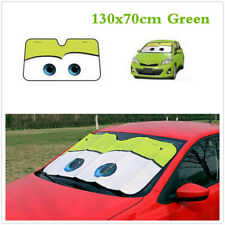 Green 130X70cm Cute Cartoon Big Eye Car Windshield Sunshade Auto Sun Visor Cover