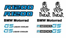10 Adesivi Sticker Moto BMW R 1200 gs Motorrad Dakar liquid colled