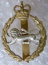 Badge- Royal Border Regiment Cap Badge QC (Bi-metal, Org) Slider