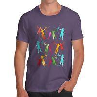 Twisted Envy Men's Archery Rainbow Silhouette T-Shirt