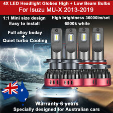 For Isuzu MU-X MUX 2013-2019 4X Headlight Globes High low beam 36000LM Bulbs 12V
