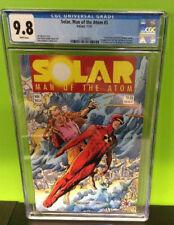 Solar Man of the Atom # 3 . Valiant WHITE PAGES CGC 9.8  Rare