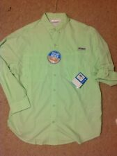 $48 New W Tags! COLUMBIA PFG TAMIAI II LONG SLEEVE OMNI SHADE SHIRT MENS SZ L