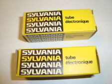 One Matched Pair 7308 tubes, By Sylvania, Gold Pin, NIB