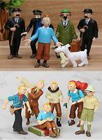 2 Type The Adventures of Tintins Captain Haddock Figures Comic Kids Xmas Gift