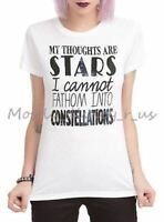 New The Fault In Our Stars Girls Top T-Shirt Thoughts are Stars Constellations