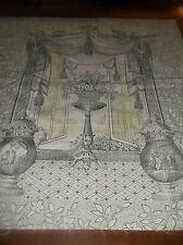 """vtg oriental print sewing fabric panels, 24 by 44"""",,,,,,,"""
