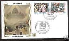 VATICAN CITY # 679-680 FDC Christ Saints