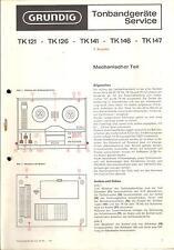 Grundig Original Service Manual für TK 147