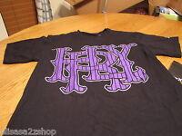 Mens Hurley T shirt Classic fit surf skate black purple major league PStrip S SM