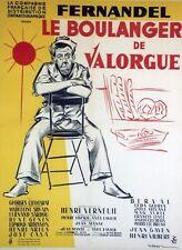 """""""LE BOULANGER DE VALORGUE"""" Affiche entoilée litho  (Henri VERNEUIL / FERNANDEL)"""