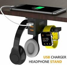 Headphone Stand with USB Charger COZOO Under Desk Headset Holder Mount