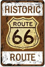 ROUTE 66 METAL SIGN 8X12 ALL WEATHER MADE IN USA! MAN CAVE GARAGE BAR DECOR