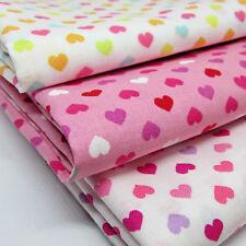 Love hearts by Sevenberry - 3 Fat Quarter bundle 100% cotton japanese fabric