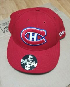 NEW ERA NHL MONTREAL CANADIENS FITTED LOW PROFILE HAT size 7 3/4