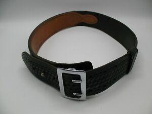 TEX Shoemaker & Sons Black Leather Law Enforcement Security Duty Gear Belt 34