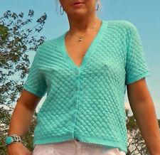 VINTAGE Rockabilly 1950s-60s Original  Japanese Textured Knit Retro Cardi