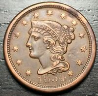 1854 Braided Hair Large Cent --  MAKE US AN OFFER!  #R5720
