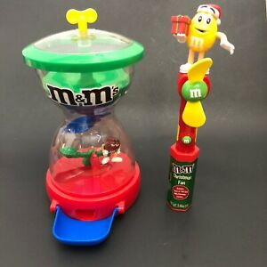 M&M's Fun MachIne Dispenser Candy Chocolate M&M's World Red SeeSaw Red & Yellow
