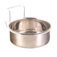 Trixie 2 Stainless Steel Dog Bowls for Cages and Crates With Hooks