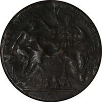 1889 Art Nouveau Fob PARIS EXPOSITION UNIVERSELLE REPUBLIC Medal France Angel