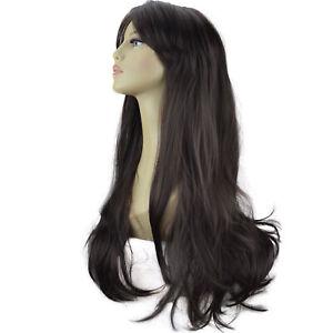 """20"""" Ladies Beautiful Full WIG Long Hair Piece FLICK Dark Brown #4"""