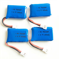 4 pcs 3.7V 20C 200mAh 752025 Lipo Battery For Helicopter X4 X11 Rc Drone connect