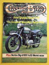 CLASSIC BIKE - Oct 1982 - Norton Big Four - Triumph T1 10 Tiger - 175cc Morini