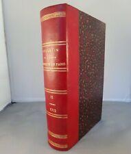 BULLETIN DE LA SOCIETE CHIMIQUE DE FRANCE T11 / 1912 MASSON