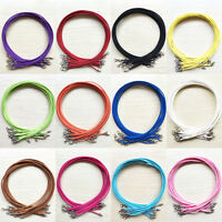 Wholesale 5/10Pcs Multi Color Suede Leather String Cord Finding Necklace 47cm