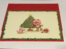Vintage Strawberry Shortcake Unused Christmas Card