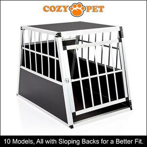 Aluminium Car Dog Cage Cozy Pet Travel Puppy Crate Pet Carrier Transport ACDC05