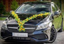 Brautauto Autoschmuck Hochzeitsauto Autodeko Türschleifen Autogirlande V - Gelb