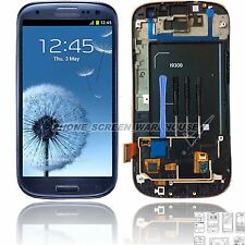 For Samsung Galaxy S3 I9300 LCD Display Digitizer & Touch Screen & Frame Blue UK