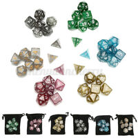 USA 6 Colors 42pcs Polyhedral Dice Set for DND RPG MTG Game Dungeons Games +