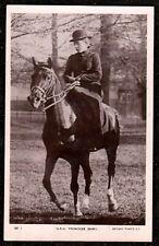 1912 H.R.H PRINCESS MARY SAT ON A HORSE REAL PHOTO POSTCARD WINDSOR