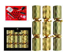 "6 x 8"" Mini Luxury Tom Smith Christmas Tree Crackers Gold Christmas Crackers"