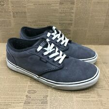 Vans Mens VN-OTUY8X3 Gray Canvas Sneakers Shoes Lace Up Low Top Size 10